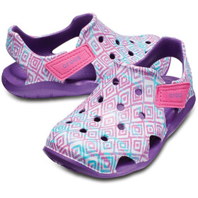 Crocs Swiftwater Wave Graphic Sandaler Børn pink/violet